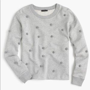 J Crew Pom Pom sweater grey SZL